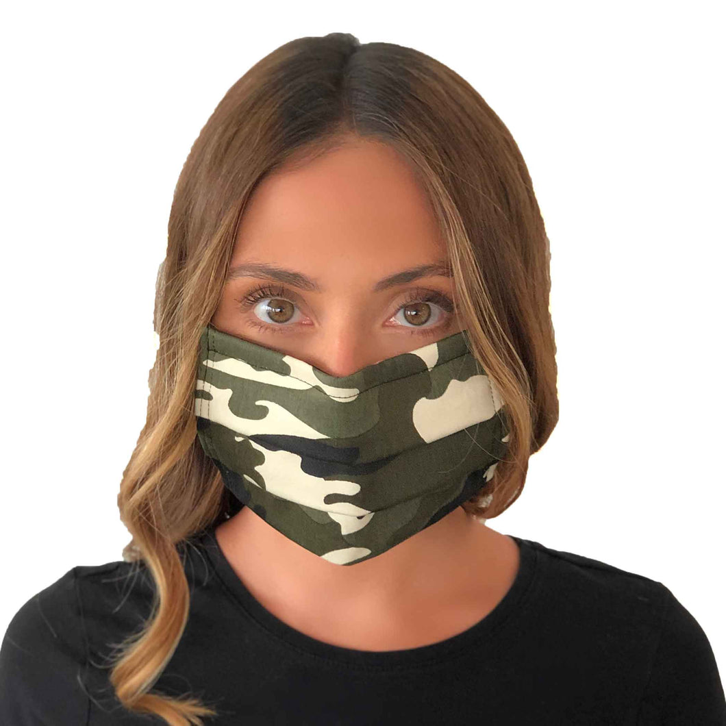 Camo Mask 3 Layers - Kids and Adult sizes - Face Masks Made in Canada -Masques en tissu fait a quebec