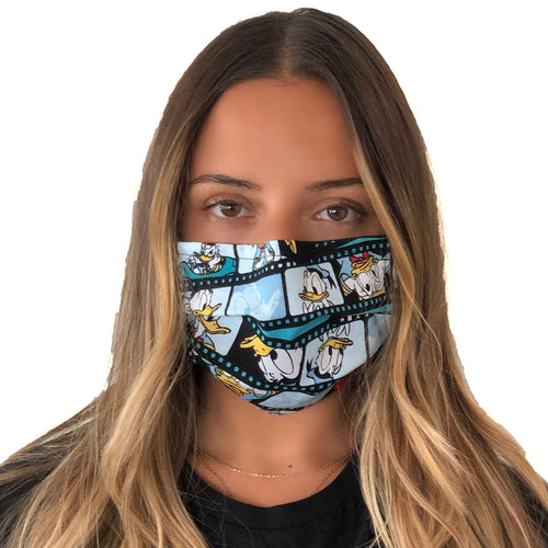 Donald Duck Vintage Face Mask 3 Layers - Kids and Adult sizes - Face Masks Made in Canada -Masques en tissu fait a quebec