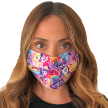 Load image into Gallery viewer, My Little Pony Face Mask 3 Layers - Kids and Adult sizes - Face Masks Made in Canada -Masques en tissu fait a quebec