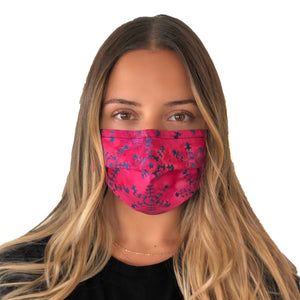 Magenta Star Mask 3 Layers - Kids and Adult sizes - maskincanada