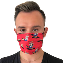 Load image into Gallery viewer, Super Mario Retro Face Mask 3 Layers - Kids and Adult sizes - Face Masks Made in Canada -Masques en tissu fait a quebec