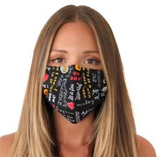 Load image into Gallery viewer, Mickey Mouse Face Mask 3 Layers - Kids and Adult sizes - Face Masks Made in Canada -Masques en tissu fait a quebec