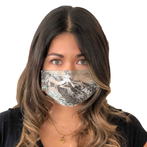 Camo Nature Face Mask 3 Layers - Kids and Adult sizes - Face Masks Made in Canada -Masques en tissu fait a quebec