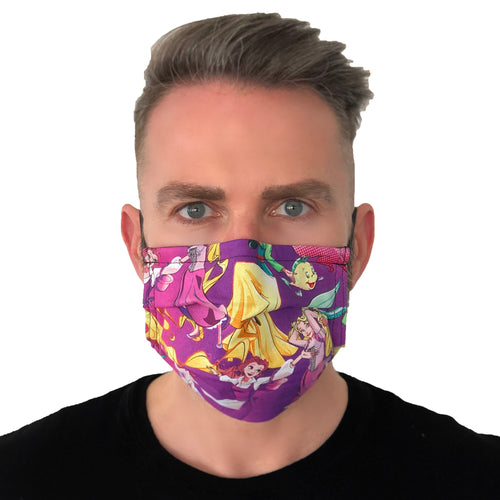 Disney Princess Face Mask 3 Layers - Kids and Adult sizes - Face Masks Made in Canada -Masques en tissu fait a quebec