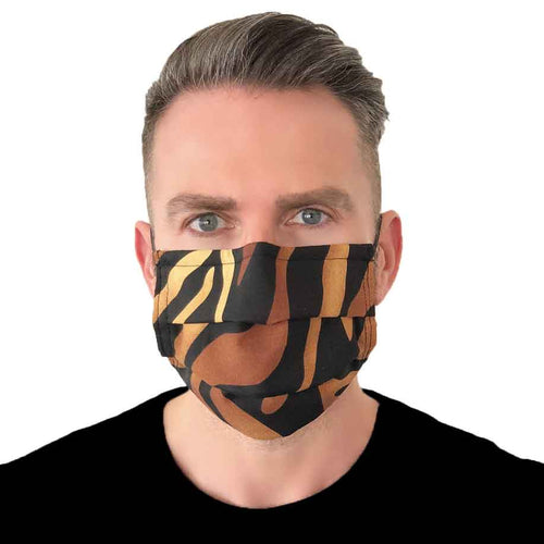 Tiger Fashion Mask 3 Layers - Kids and Adult sizes - Face Masks Made in Canada -Masques en tissu fait a quebec