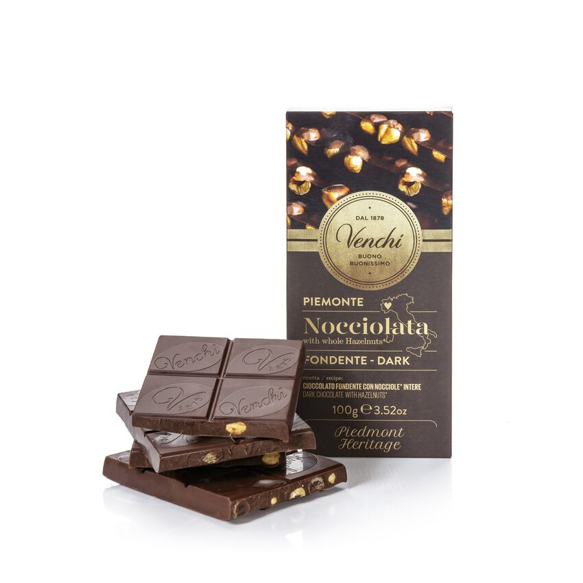 Dark Chocolate Hazelnut Bar 100G