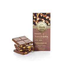 Load image into Gallery viewer, Milk Chocolate Hazelnut Bar 100G