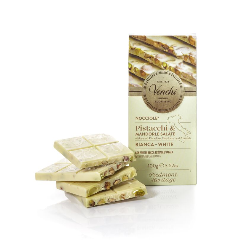 White Chocolate Bar With Salted Nuts 100G