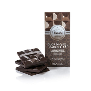 Dark Chocolate Bar 75% Chocolight 100G