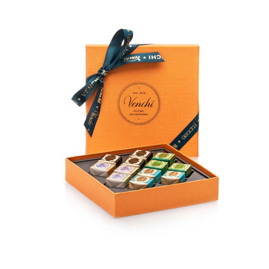 Assorted Cremini Orange Square Box 134G