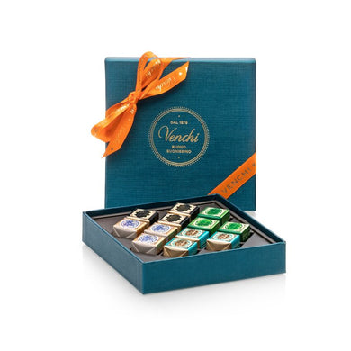 Assorted Cremini Petrol Blue Square Box 134G