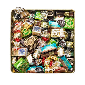Assortment of 400G Chocolates Metal Square Box