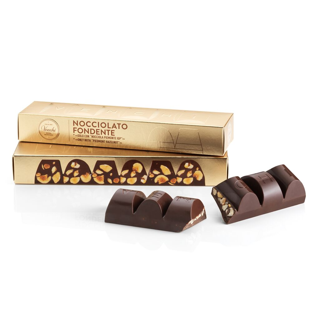 Dark Chocolate with Hazelnut Mini Block 175G