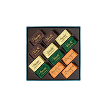 Load image into Gallery viewer, Assorted Giandujotti Petrol Blue Square Box 106G