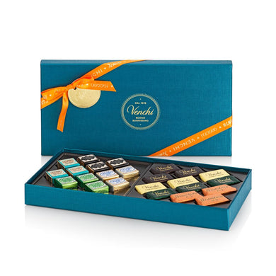 Assorted Giandujotti And Cremini Petrol Blue Rectangular Box 240G