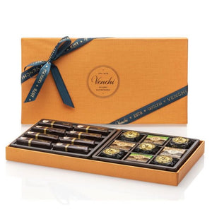 Assorted Dark Chocolates Orange Box 300G