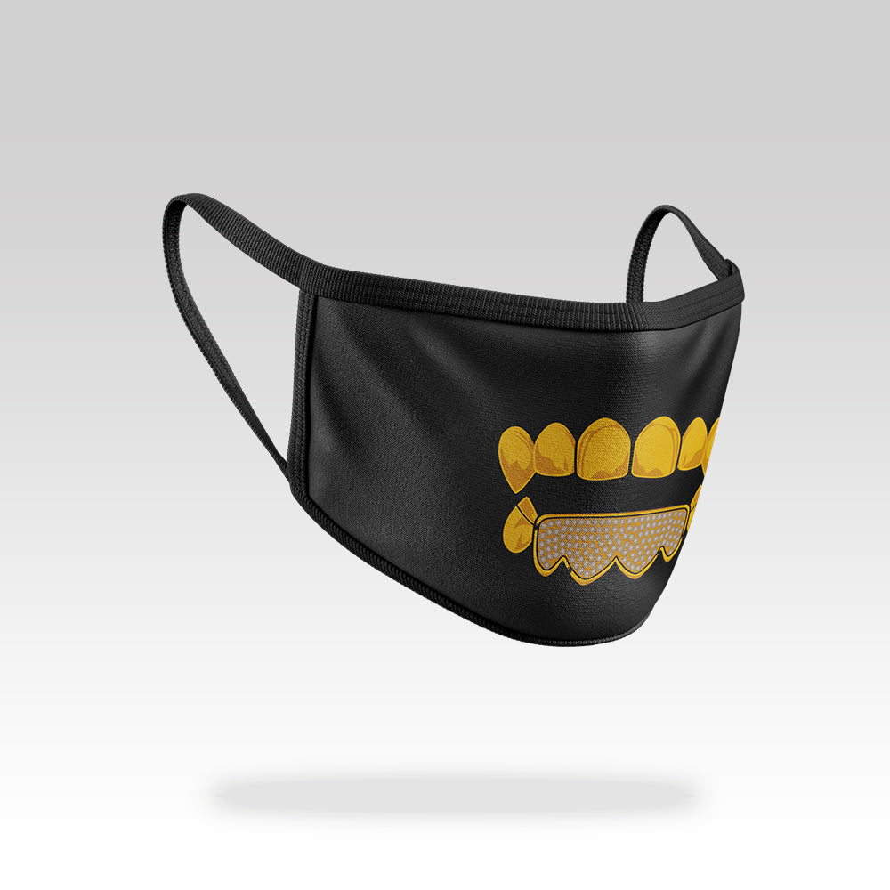 Gold Teeth - Face Mask