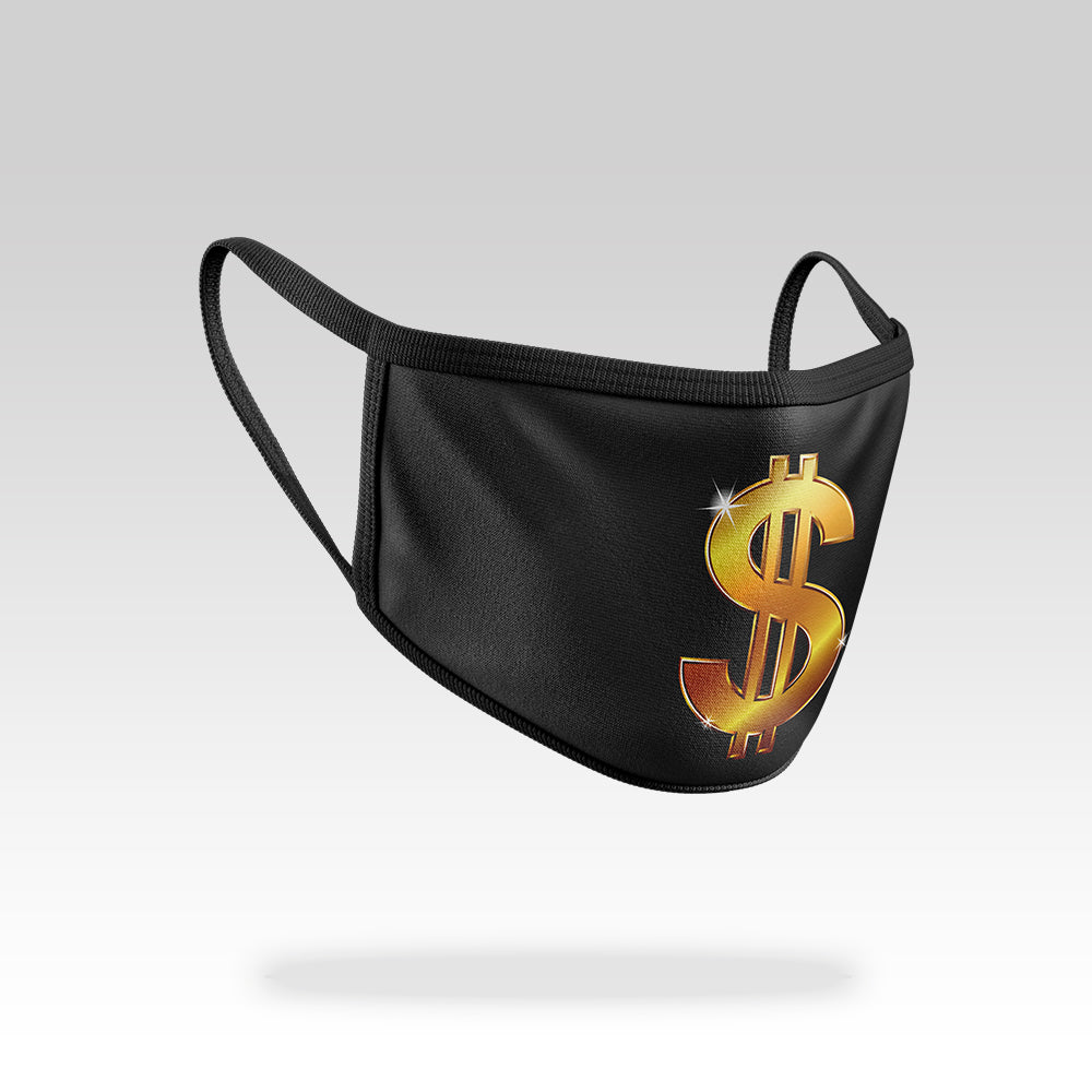 Dollar Sign - Face Mask