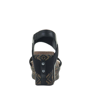 OTBT - BUSHNELL in BLACK JUTE Wedge Sandals