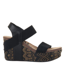 Load image into Gallery viewer, OTBT - BUSHNELL in BLACK JUTE Wedge Sandals