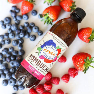 Nexba Naturally Sugar Free Mixed Berry Kombucha 450ml (12 Pack): £ Inc. VAT