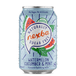 COMING APRIL 2021: Nexba Naturally Sugar Free Watermelon, Cucumber & Mint Sparkling Water 330ml (24 Pack): £ Inc. VAT