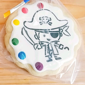 Pirate paint & eat cookie