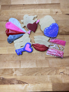 Valentines decorate your own cookie kit