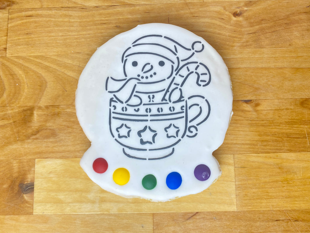 Snow man Paint & Eat cookie