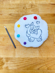 Dog Paint&Eat cookie