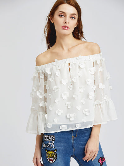 Bella Applique Top - Boho Buys