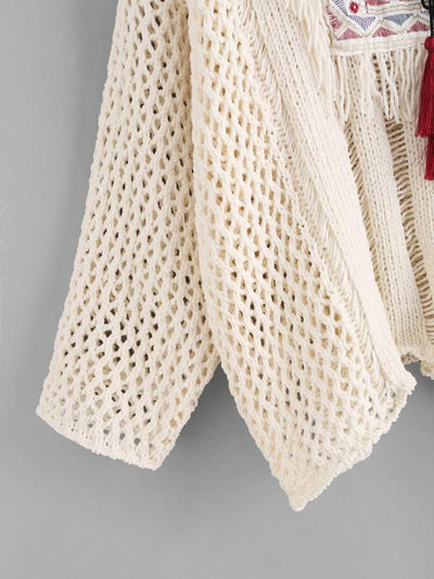 Jemima Cream Boho Knit - Boho Buys
