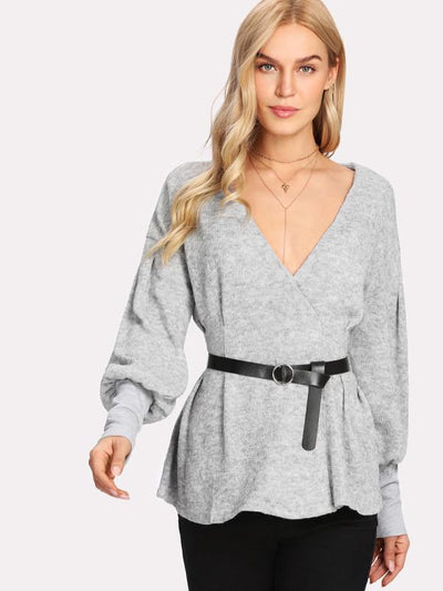 That's A Wrap Knit Top - Boho Buys