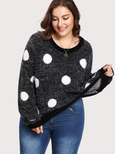 PLUS SIZE Seeing Spots Knit - Boho Buys