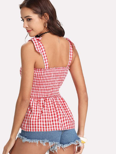 Short & Sweet Gingham Top - Boho Buys