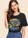 California Dreams Tee | BLACK - Boho Buys