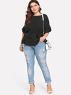 PLUS SIZE Speckled Top - Boho Buys