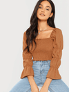 Victoria Shirred Top - Boho Buys