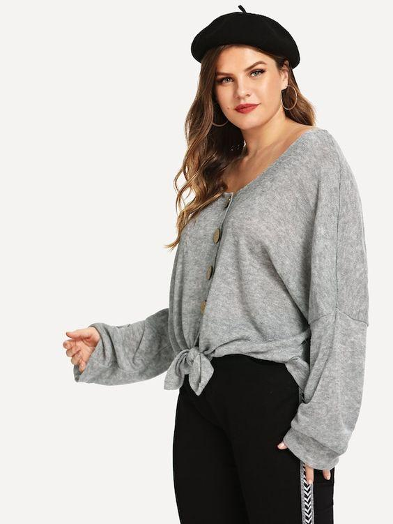 PLUS SIZE Ultra Lightweight Sweater - Boho Buys