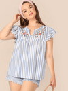 PLUS SIZE Apex Cotton Top - Boho Buys