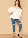 PLUS SIZE Elouise Cotton Top - Boho Buys