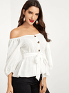 Elouise Cotton Top | WHITE - Boho Buys