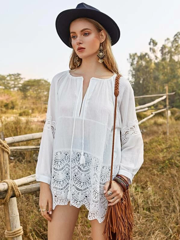 Indy Cotton Top | THREE LEFT - Boho Buys