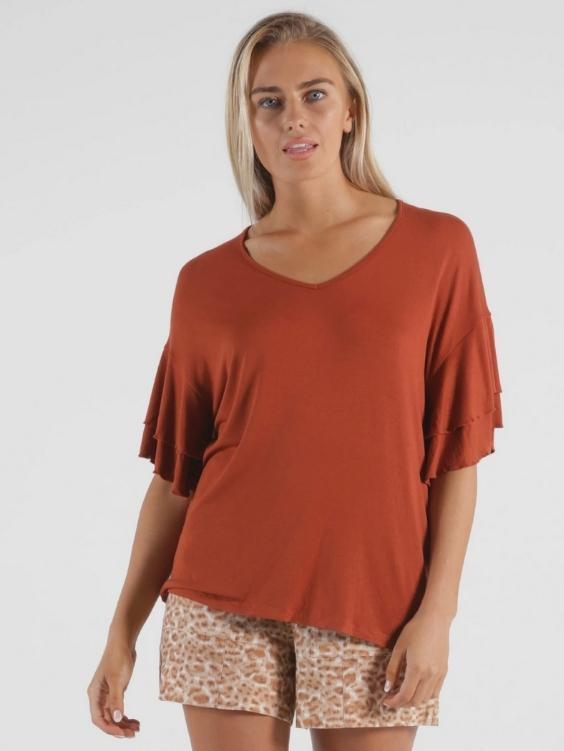 Betty Basics Ripon Top | Terracotta - Boho Buys