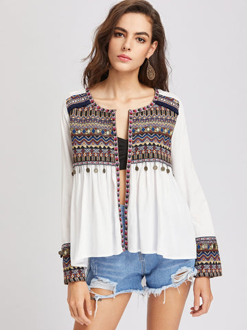 Gypsy Nights Jacket | White