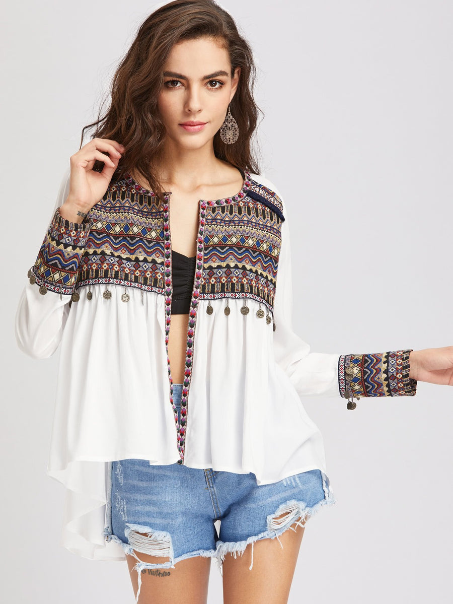 White Gypsy Nights Jacket | TWO LEFT - Boho Buys