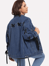 PLUS SIZE Remy Denim Jacket - Boho Buys