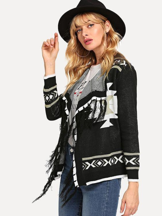 Horizon Lurex Knit Jacket | BLACK - Boho Buys