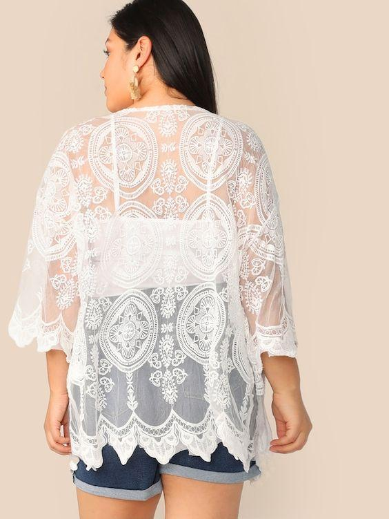 PLUS SIZE Just A Little Kimono - Boho Buys