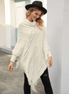 Snow White Knit Poncho - Boho Buys